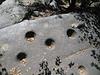 Bed-rock mortars overlooking Lily Creek, Idyllwild, CA 17 Jun 2007