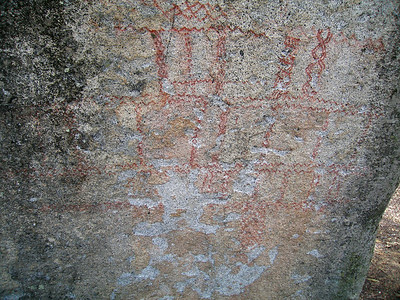 Cahuilla pictographs, Idyllwild camp ground, Idyllwild, CA 25 Jun 2006