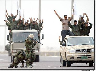 Surrendering Iraqis