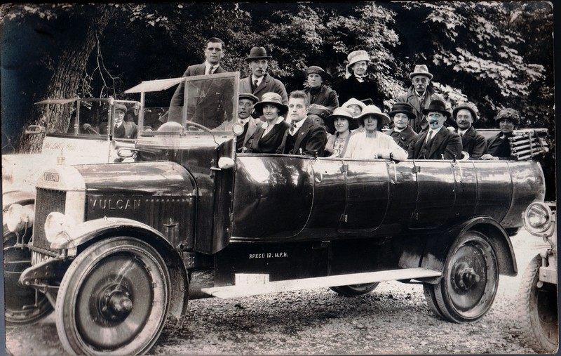 Isle of Man possibly Rushen Vulcan Maybe Reg MN 829 or 840 Early 1920s  Front seat Richard and Ethel Nuttall