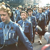 Rawtenstall Queen's Square St George's day parade 19570428 Elizabeth Tricket centre