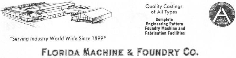 Florida Machine & Foundry Company advertisement