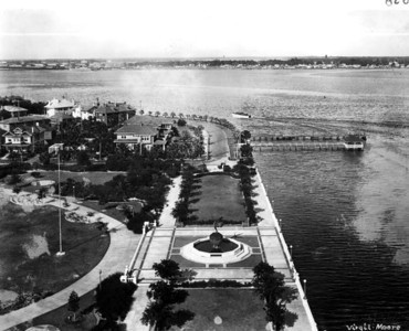 An aerial of Memorial Park during the 1920s. Courtesy of State Archives of Florida, Florida Memory, http://floridamemory.com/items/show/31981