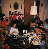"""Christmas Eve """"87"""" (Janet, Bryan, Debbie, Jeff)<br /> """"This is just one of the best Christmas' ever for me. I know we are all eating but, it is our childhood house etc. (1982)"""