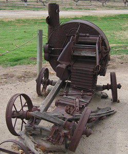 Jensen-Alvarado Ranch, Rubidoux.  Old Farm Equipment. 8 Feb 2007