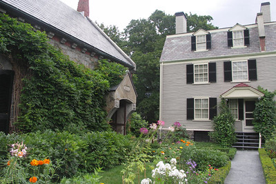 The Stone Library was built after the death of John Quincy Adams. He requested in his will that it be a fireproof structure, separate from the house.
