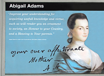 """Abigail Adams (1744 - 1818), wife of John Adams, his """"dearest friend"""", his greatest support politically,and an early feminist."""