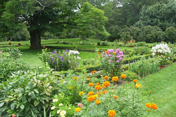 The gardens at Adams National Historic Park, by the Old House. They were not as extensive in the 18th and 19th century.