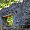Tabby Sugar Works built by John Houstoun McIntosh near St. Mary's, Georgia around 1825. Note recent wood beam holding up window arch.