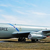 "Kansas Air National Guard KC-135E Stratotanker. Static display near the main gate to Forbes Field, the location of the Kansas National Guard Museum. These ""E Model"" 135s were operated from Forbes Field ANGB by the ""Kansas Coyotes"" of the 190th Air Refueling Group of the Kansas Air National Guard from 1978 to 2005. Currently the 190th flies the ""R Model"" KC-135 with higher performance engines than the E Model. Photo taken March, 2013."