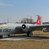 EB-57 Canberra Bomber on static display near the museum. The B/EB-57 was flown by the KANG from 1962 to 1978 when it converted to the KC-135 air refueling mission.