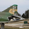 "F-4D Phantom II. The F-4 Phantom was flown by the Kansas Air National Guard at McConnell AFB in Wichita, Kansas from 1979 to 1990. This particular aircraft was not flown by the KANG, but the unit did have a ""MiG Killer"" just like this one. (Note the red start painted on the engine intake blade.) This particular aircraft at the NG Museum is the actual F-4D that USAF CPT Steve Ritchie (pilot) and CPT Lawrence Petit (WSO) were flying on May 31, 1972 when Ritchie got his 2nd MiG kill. Ritchie eventually went on to get 3 more MiGs and become the USAF's first Ace of the Vietnam War. Photo taken at the Museum of the Kansas National Guard, Forbes Field, Topeka, Kansas, March, 2013."