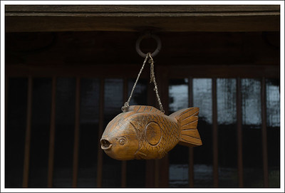 I am not sure of the meaning of this fish, but I thought it was interesting. They often have these hanging over a fire pit.  I think it is supposed to protect the house from fire.