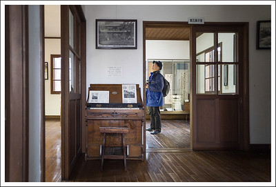 The inside of the schoolhouse.
