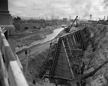 1938, LA River Channeling