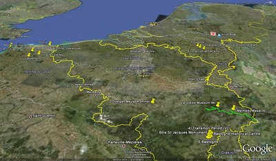 Peipers Route at the battle for the bulge