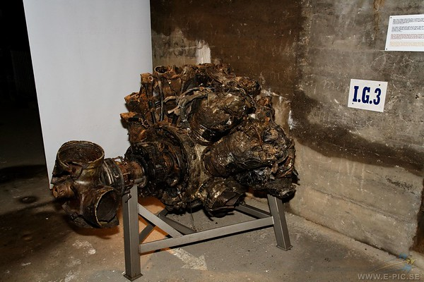Pratt & Whitney R-2800 Double Wasp engine from downed Marauder
