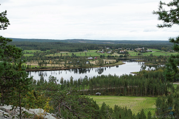 "View of the Kalix river in the direction of the ""enemy"" aproach."