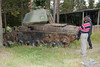 STRV 74 used for target practice and weapons evaluation