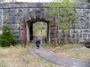 Entrance gate and rails for supplying the fort.