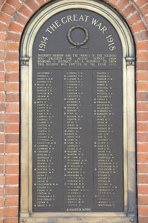 WW I Honour Roll, Boorowa NSW, Australia.