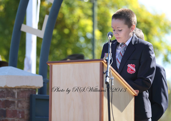 Youth is a feature of the Anzac celebrations in Boorowa.