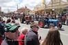Vintage tractors at the Irish Woolfest Street Parade.