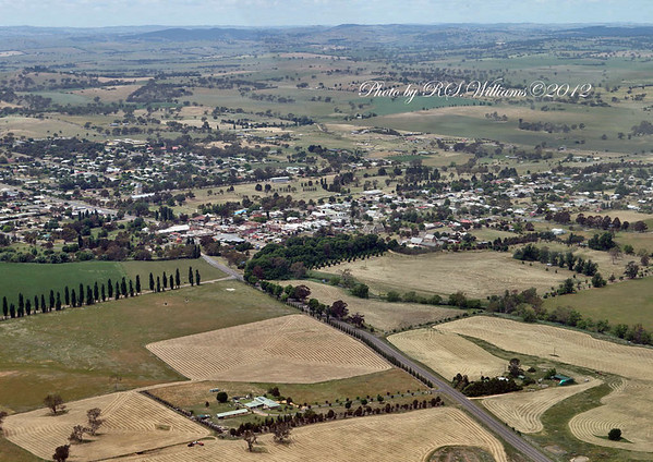 Boorowa from the air at approx. 1000 feet. Aviation courtesy of Brad Pearsall.