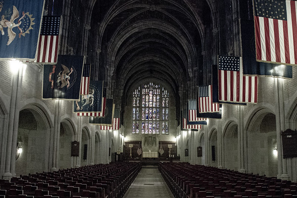 Inside chapel at West Point.