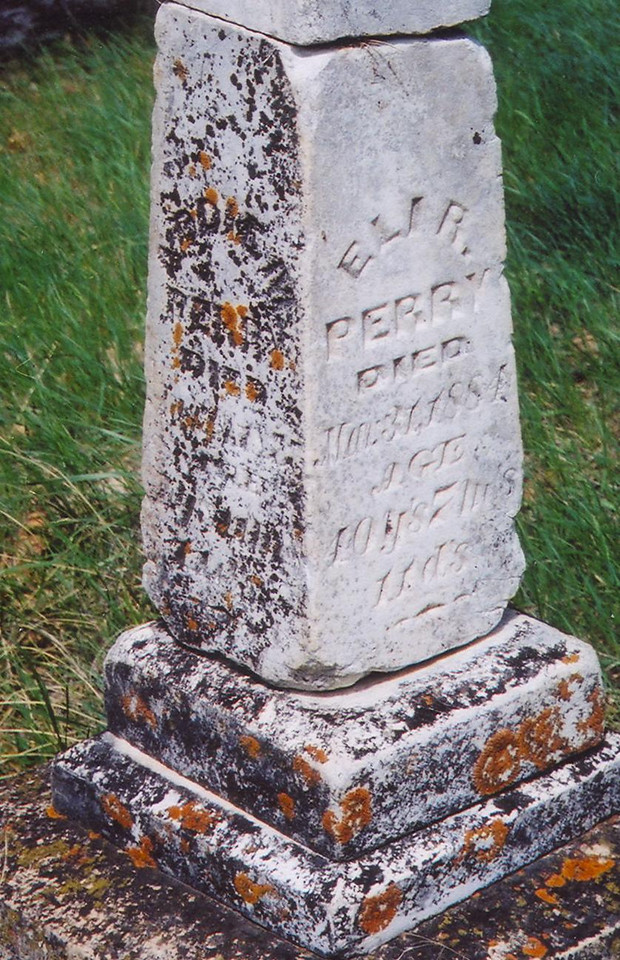 Crook City Cemetery tombstone.