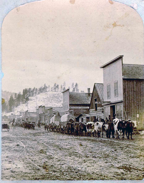 Another Frank Haynes photograph - a view of downtown Crook City, Dakota Territory.
