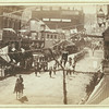 """""""People of Deadwood celebrating completion of a stretch of railroad.""""  Street parade with numbers """"1888"""" in foreground.<br /> <br /> From the John H.C. Grabill Collection, Library of Congress, Washington, DC"""
