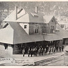 The Burlington & Missouri River Railroad depot in Deadwood, South Dakota from an 1892 travel brochure in the collection of Jerry Bryant of Deadwood.  Thank you Jerry!