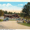 Another Jerry Bryant treat:  a post card featuring the old Pinecrest Tourist Camp Ground, which sat in the general vicinity of the Lodge at Deadwood.