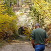 "The old C& NW railroad tunnel along Whitewood Creek is now closed off, but one can still see there is a ""light at the end of the tunnel.""  One of the participants talked about her taking her Brownie Troop through the tunnel years ago.  It is approximately the length of two football fields.        Return to <a href=""http://www.lawrencecountyhistory.blogspot.com/2012/09/more-than-100-persons-participate-in.html""><b><i>2012 Fall Tour</i></b> story</a>  Return to <a href=""http://www.lawrencecountyhistory.com""><b><i>LCHS Historical Marker</i></b> web site</a>"
