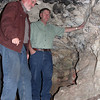 Dr. David Wolff of Black Hills State University is on the left.  There is ample room inside Barker's cave for even a basketball player to stand (okay, perhaps not a few NBA players!)