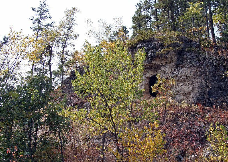 Another view of the entrance to Barker's Cave.