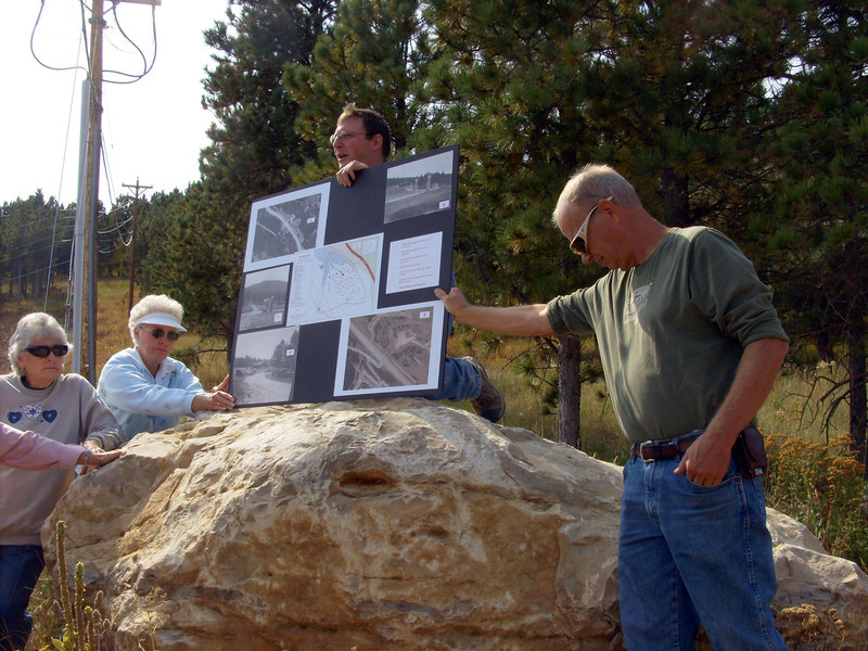 Mike Runge shared some excellent photo boards, which depicted both images of the old Deadwood Dick site and information about items that were found there.