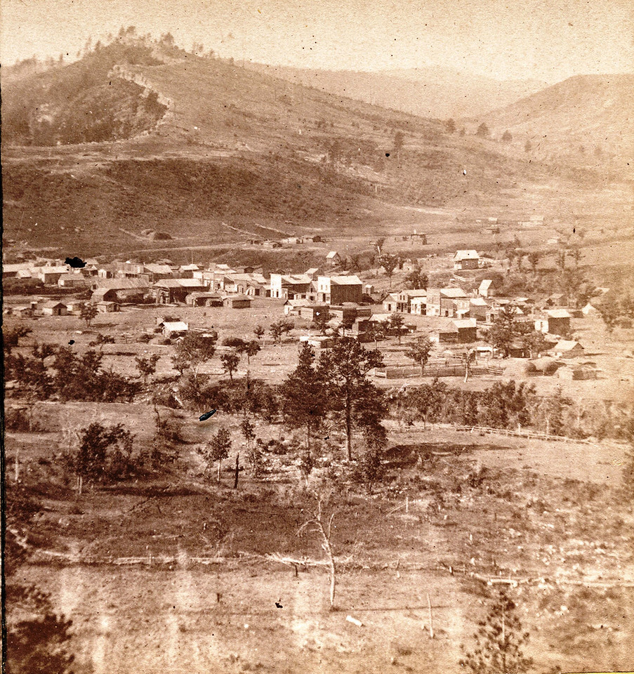 "This fine image is another sent to us by Jerry Bryant of Deadwood.  It's caption notes that it's Crook City, ""prior to statehood."""