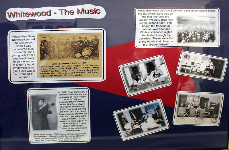 The cultural aspects of a community help to define it.  And music has played a large role in the history of Whitewood.