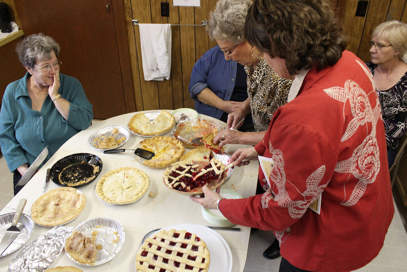 There was plenty of dessert…..even after some folks had seconds!   <br /> <br /> The cherry pie we had was terrific.  Judging by the smiles and contentment exhibited by tour participants, the pie and coffee was a real hit.  A great ending to a superb day!