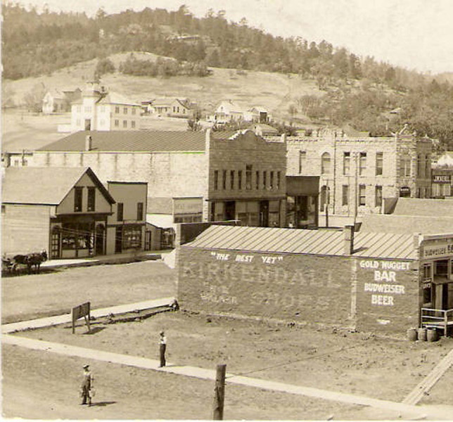 "A view of downtown Whitewood, South Dakota in 1900.  Photo courtesy of Whitewood Public Library.  Whitewood has a rich history, and we commend the people of Whitewood for the many preparations they're making for their 125th Anniversary.  And we'll be back the last weekend of June to help them celebrate.  We're delighted that our Whitewood neighbors have given us this ""sneak preview"" of their upcoming celebration, and we deeply appreciate the warmth and hospitality they provided during the 2013 Spring Tour of the Lawrence County Historical Society.    Return to the LCHS <a href=""http://www.lawrencecountyhistory.com""><b><i>Historical Marker</i></b></a> web site."