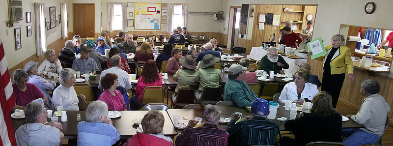 You may want to click on this photo and take a gander at the group close-up!  A superb meal was served -- and what a wonderful choice of soups and sandwiches.  Whitewood resident made us feel very welcome!