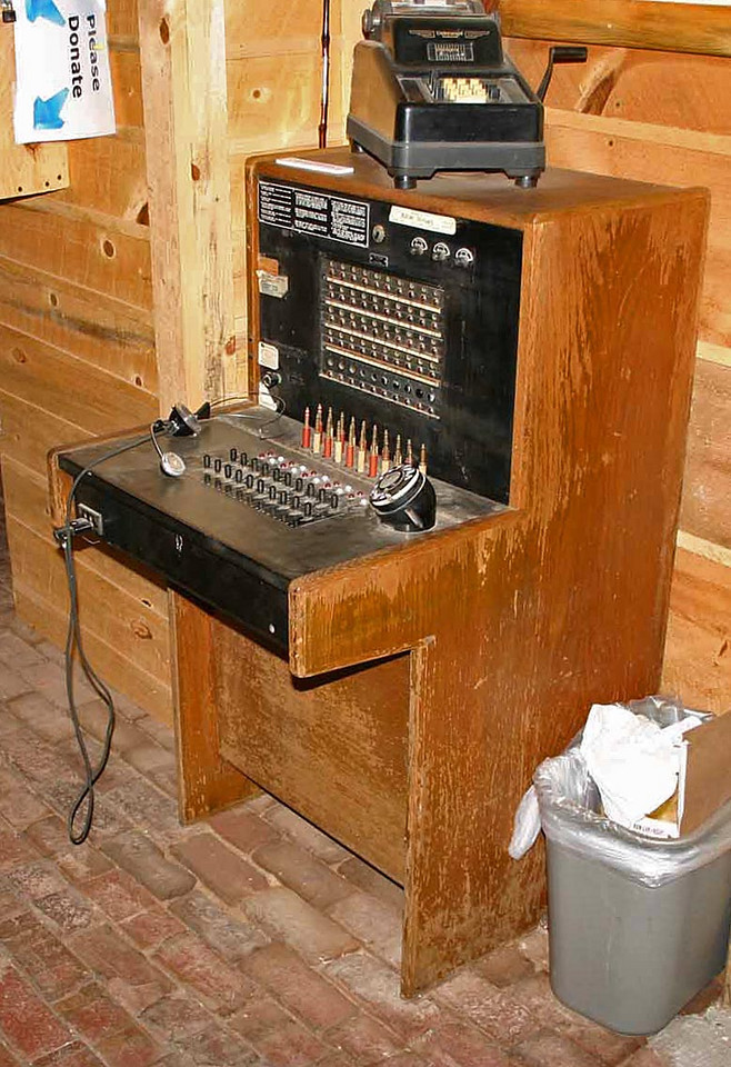 There's no telephone booth at the museum, but there is a switchboard in the lobby if you'd care to try to make a call.