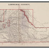 <b>1884 MAP OF LAWRENCE COUNTY</b> Lawrence County was a pretty good sized county before statehood.  This 1884 image is from the Andreas Historical Atlas of Dakota.  The key indicates that there were 42 voting precincts, 33 school districts, and 28 road districts.  Thanks to the Case Library at Black Hills State University.