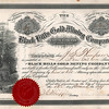 <b>...A BIT ABOUT MINING  and <u>JABEZ CHASE</u></b>  Friend Dick Adams has kept us apprised of his findings regarding his great great grandfather, Jabez Chase, who was an entrepreneur in the booming gold rush days in the Black Hills.  One of Dick's recent finds was this Stock Certificate (#39) for the Black Hills Gold Mining Company, in which Jabez Chase was a partner.