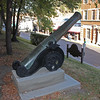 "Another view of the Spanish cannon that sits in front of the Lead-Deadwood Elementary School at the top of Main Street.           Return to the LCHS <a href=""http://www.lawrencecountyhistory.blogspot.com""><b><i>Historical Marker</i></b></a> web site."