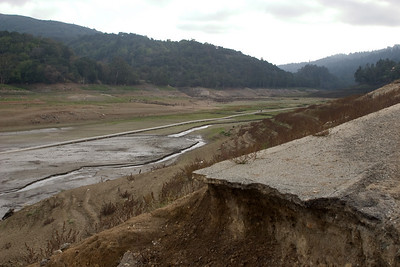 Looking upstream across the old Highway 17.