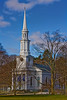 <center>First Parish Church<br>This is the fourth church built on this site.  It was erected in 1847. The first three were built on the Common in 1692, 1713, and 1794. <br><br>Lexington, Massachusetts</center>