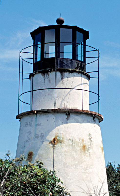Little Cumberland Light House or Lighthouse on Little Cumberland Island on North end of the island on St. Andrews Sound in Georgia on the ICW